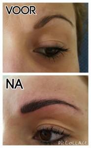 Voor-na Permanente makeup
